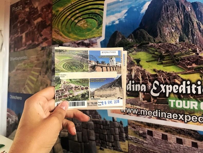 Bilhete Turístico de Cusco