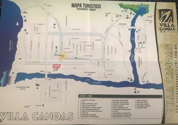 Mapa do Hotel para se localizar