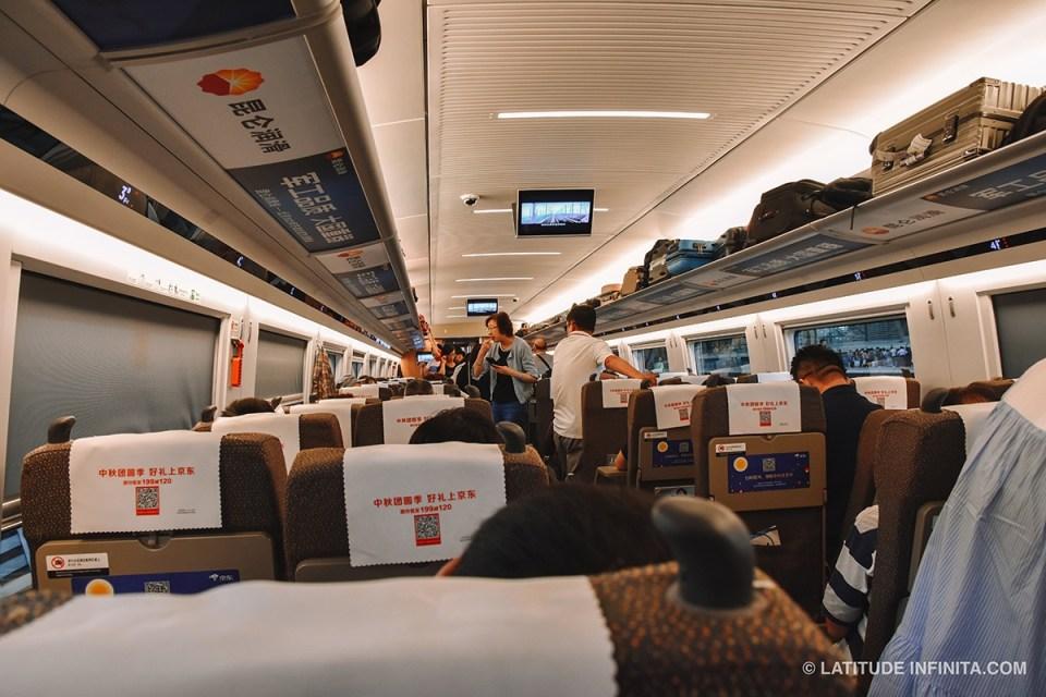 O que fazer em Beijing: dentro do trem para beijing