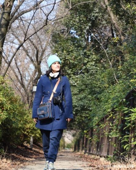 Parque no castelo de Osaka. Vale muito conhecer esse lugar.