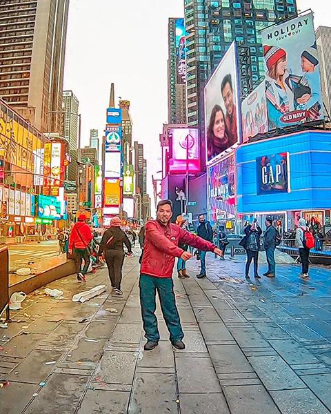 7 dias em nova york - times square