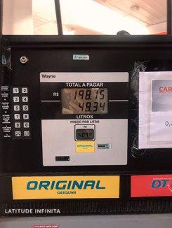valor da gasolina em curitiba