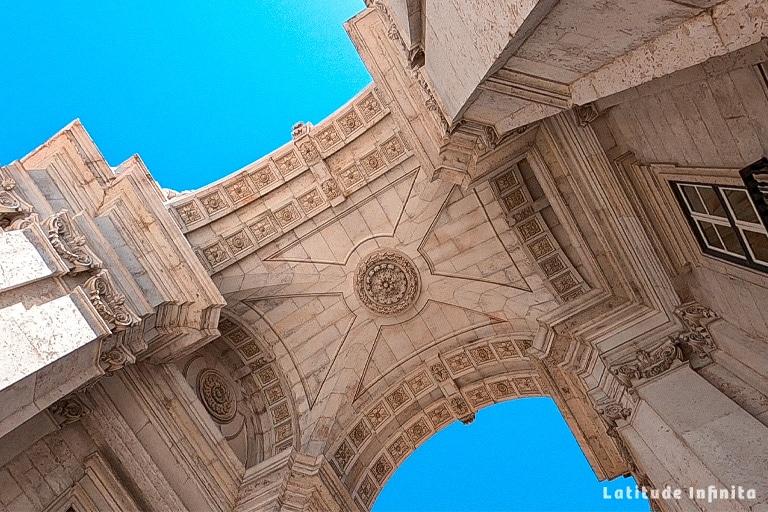 Detalhes do Arco da Rua Augusta
