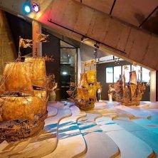 modelli di velieri al museo