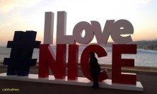 tramonto d'inverno a Nizza
