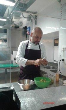 chef Riccardo Zanni al lavoro