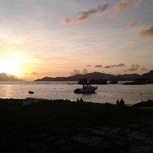 tramonto La Digue