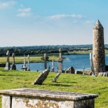 Clonmacnoise Graveyard and Round Tower, Co. Offaly