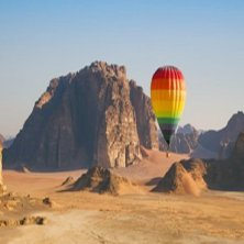 in mongolfiera in Giordania