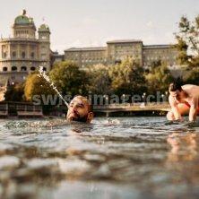 nel fiume a Berna