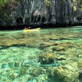 Small Lagoon, Ancora su barriera corallina, El Nido, Palawan