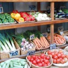 verdura esposta in negozio