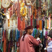 Souqs and Shopping - Omani men in Souq Muttrah, Muscat, Oman
