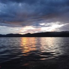 crepuscolo sul lago Inle