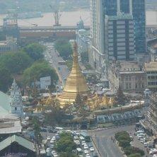 Sule Pagoda vista dall'alto