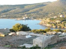 scavi archeologi al capo Sounion