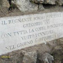 targa in memoria di Papa Gregorio XVI