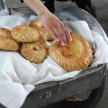 trasporto di pane al mercato