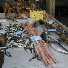 pesce in vendita a Chania