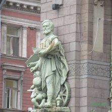 dettagli palazzi sulla Prospettiva Nevskij San Pietroburgo
