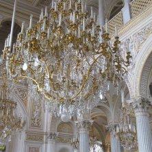lampadari cristallo sala del Padiglione Ermitage
