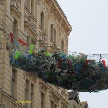 installazione contro la plastica a Praga