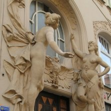 decori palazzo art nouveau Praga