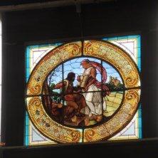 vetrata art nouveu al palazzo della fiera