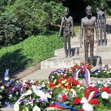 The memorial to the victims of communism, Petrin, Prague, Czech Republic
