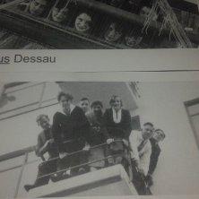foto d'epoca sul biglietto entrata museo Bauhaus Dessau