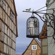 insegna in ferro battuto a Quedlinburg