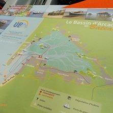 mappa dei tour in battello nel bacino