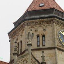 particolare del palazzo delle Poste Dessau