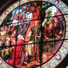 vetrata incoronazione Enrico I nel municipio di Quedlinburg