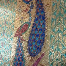 mosaici dorati a casa Ceausescu