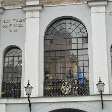 Madonna dell'Aurora Vilnius vista da sotto
