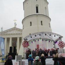 palco piazza della Cattedrale Vilnius