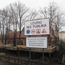 ponte d'accesso a Uzupis