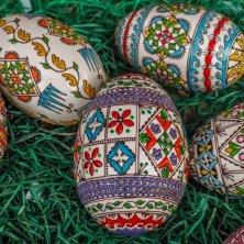 uova dipinte in modo tradizionale in Romania