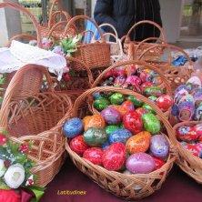 uova e cesti per Pasqua
