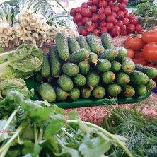 verdure al mercato di Vilnius