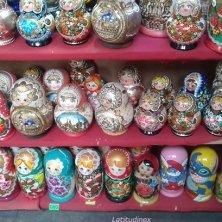 matriosca esposte a San Pietroburgo