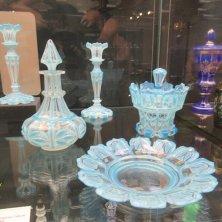 oggetti in vetro esposti