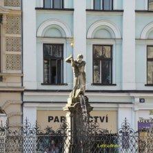 fontana in piazza a Liberec