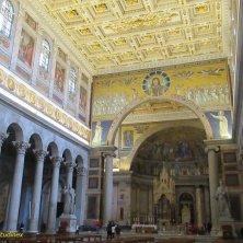 navata e arco di Galla Placidia a San Paolo Roma