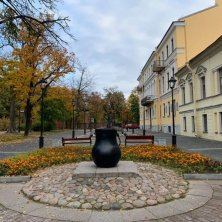 piazza in autunno Kronstadt