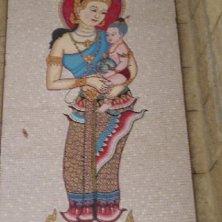 Madonna thailandese alla basilica a Nazareth
