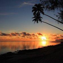 Rarotonga tramonto Cook Islands