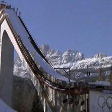 trampolino olimpionico Cortina nel cinema