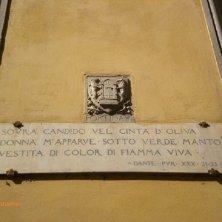 insegna purgatorio Dante a Firenze